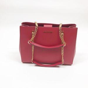 Michael Kors Ellis Large Red Tote Leather